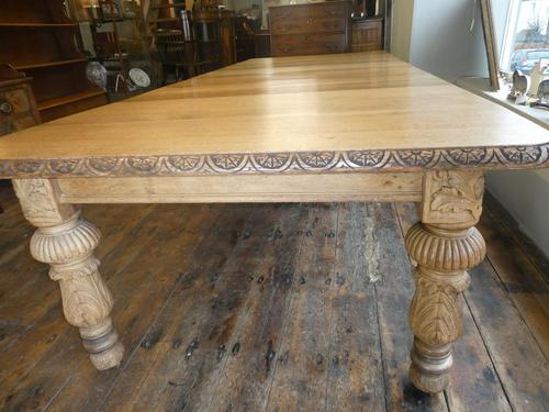 Large 19th Century Oak Table by James Cawley (1 of 9)