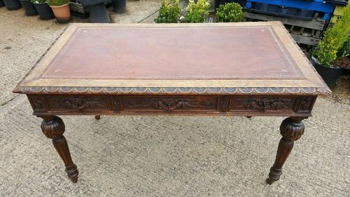 Quality Victorian Oak Writing Desk (1 of 12)