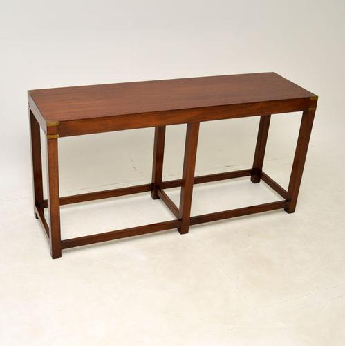 Military Campaign Style Mahogany Console Table (1 of 9)