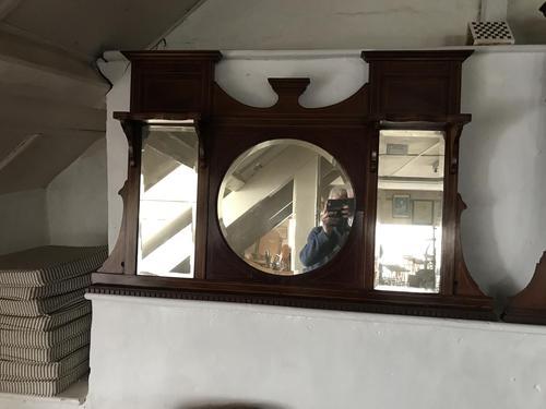 Edwardian Inlaid Mahogany Mirror (1 of 1)