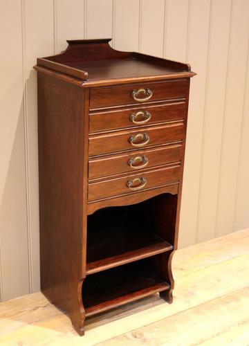 Walnut Finish Music Cabinet (1 of 10)