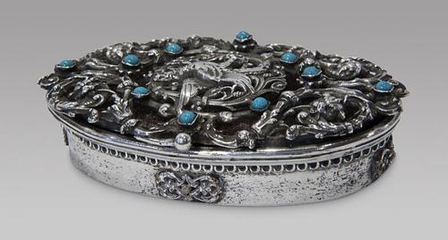 A Highly Decorative White Metal Compact (1 of 4)
