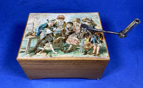 Victorian 3 Air Hurdy Gurdy Music Box (1 of 13)