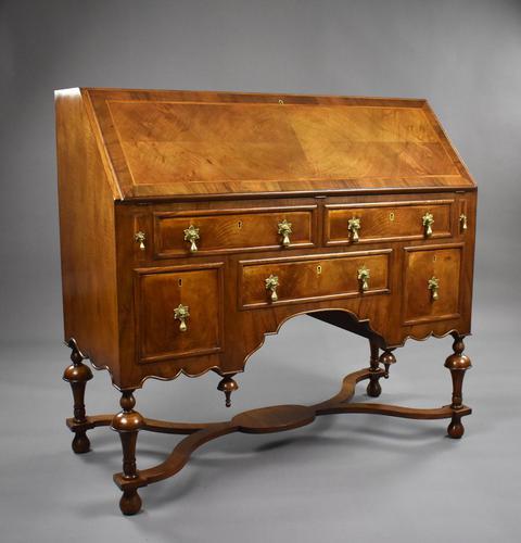 William & Mary Style Walnut Bureau (1 of 16)