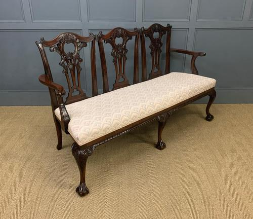Mahogany Chippendale Style Triple Chair Back Settee (1 of 18)