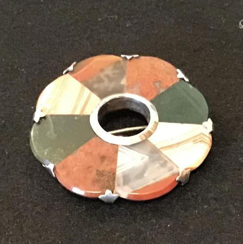 Scottish Silver & Agate Brooch (1 of 5)