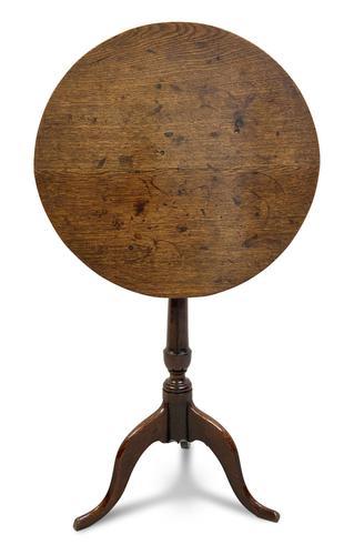 George III Oak Tilt Top Table (1 of 5)