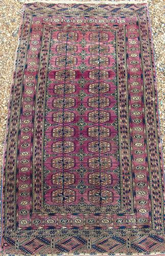 Antique Tekke Turkoman Carpet Rare Shade (1 of 4)