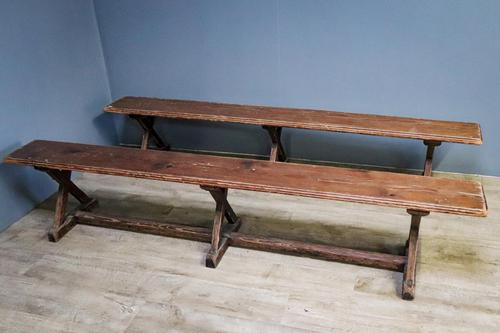 Pair of Pine Benches (1 of 8)
