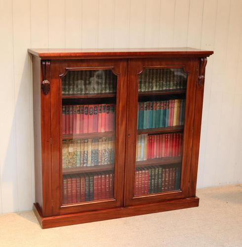 Late 19th Century Glazed Two Door Bookcase (1 of 7)