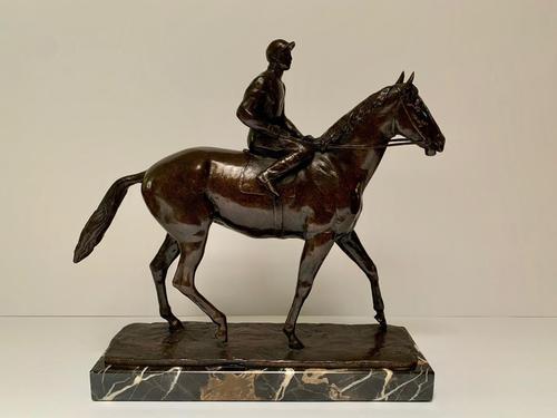 John Rattenbury Skeaping Bronze - Horse & Jockey - Inscribed (1 of 5)