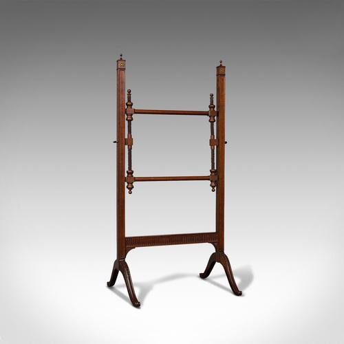 Antique Needlepoint Stretcher, English, Mahogany, Tapestry Frame, Victorian (1 of 12)