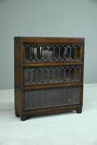 Globe Wernicke Lead Glazed Sectional Bookcase (1 of 12)