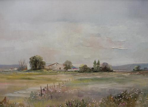 Large oil tranquil landscape artist Barbara Coner (free shipping to mainland england) (1 of 10)