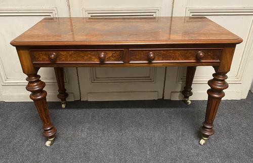 Fine Rare Burr Walnut Writing Table or Desk (1 of 20)
