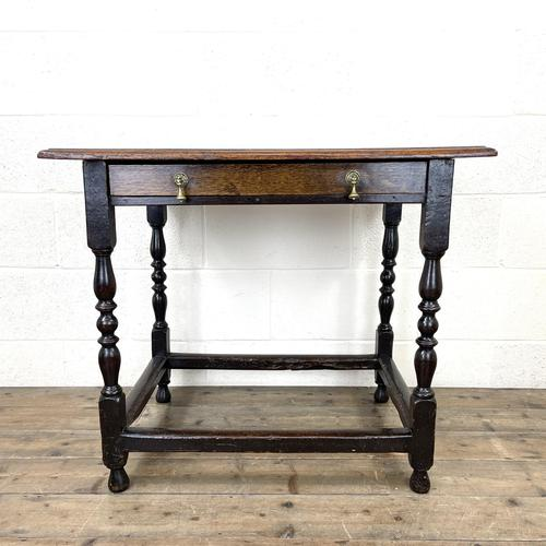 18th Century Antique Oak Side Table (1 of 11)