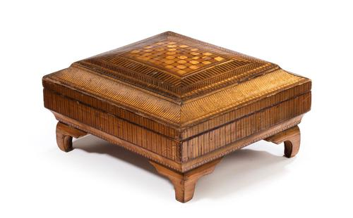 19th Century French Straw Work Box of Quite Outstanding Complexity (1 of 5)