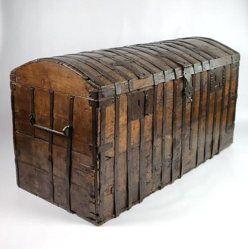 Large Early 17th Century Iron Bound Chest (1 of 22)