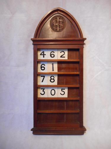 Victorian Hymn Number Board (1 of 6)