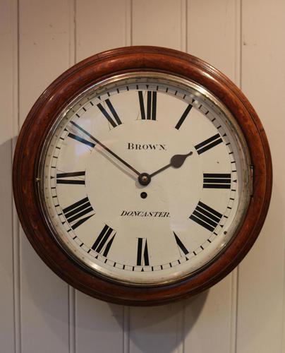 Large Oak Factory Wall Dial Clock (1 of 8)