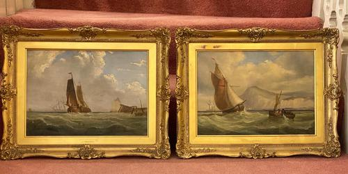 James Edwin Meadows - Attractive Pair of Marine Oil Paintings (1 of 6)