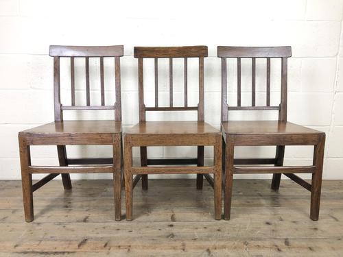 Set of Three 19th Century Farmhouse Chairs (1 of 9)