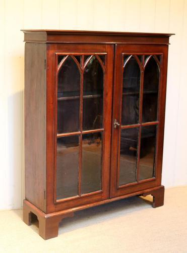 Mahogany Gothic Glazed Bookcase (1 of 11)