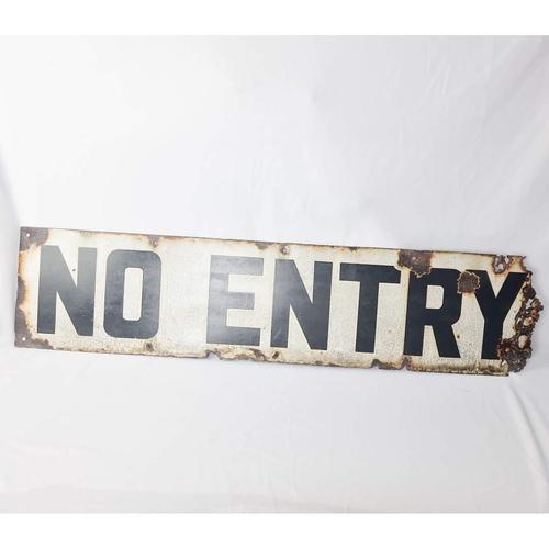 Antique Enamel No Entry Sign (1 of 6)