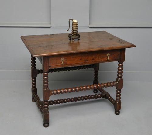 17th Century Bobbin Turned Oak Side Table (1 of 12)