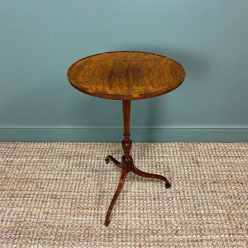 Elegant Sycamore and Yew Antique Wine Table (1 of 6)
