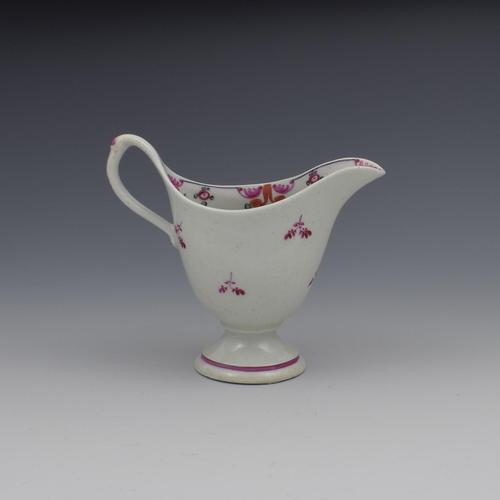 New Hall Porcelain Clip Handle Cream Jug Pattern 121 (1 of 9)