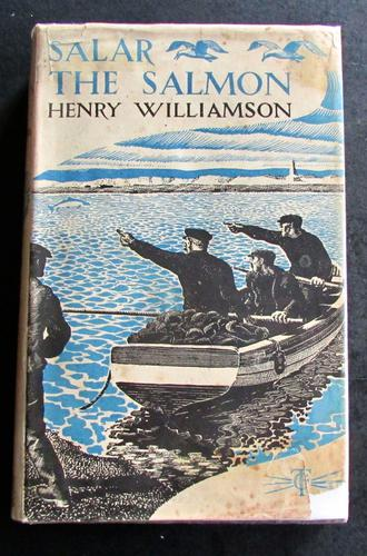 1936 1st Edition Salar the Salmon by Henry Williamson - Illustrated by C. F. Tunnicliffe (1 of 5)