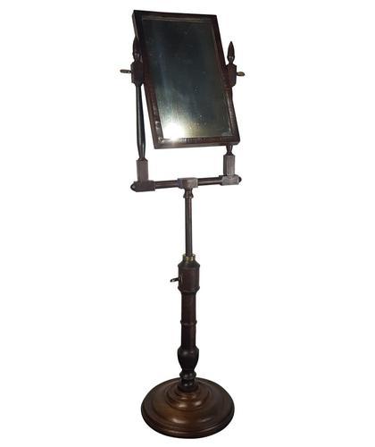 George III Walnut Shaving Mirror (1 of 1)