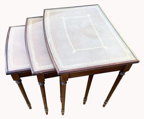 Nest of Three Mahogany Tables (1 of 5)