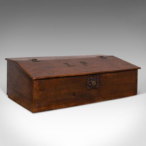 Antique Verger's Table Top Desk, English, Oak, Ecclesiastical, William III 1700 (1 of 12)