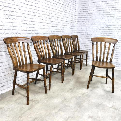Matched Set of Six Victorian Windsor Lathback Chairs (1 of 8)