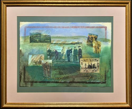 'Classical Golf' - Beautiful Signed Original 20thc Mixed Media Abstract Painting (1 of 11)