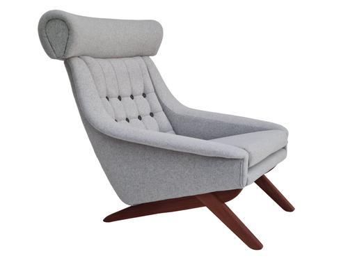 Danish Design, Illum Wikkelsø, Renovated / Reupholstered Armchair, 70s, Furniture Wool, Teak (1 of 13)