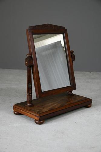 Antique Regency Mahogany Toilet Mirror (1 of 10)