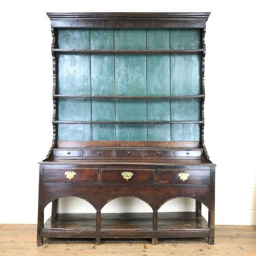 Antique 18th Century Joined Oak Dresser (1 of 10)