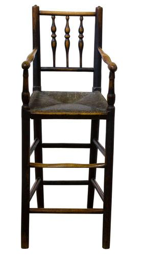 Early 19th Century Turned Ash Spindle Back Child's Chair (1 of 3)