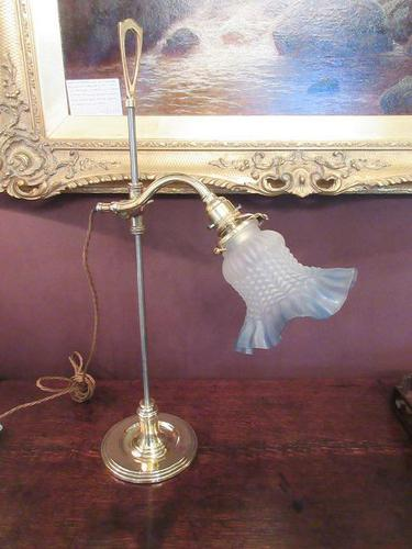 Antique Brass & Steel Rise & Fall Lamp (1 of 7)