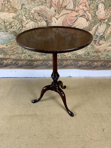 Small Georgian Mahogany Tilt Top Lamp Table (1 of 6)