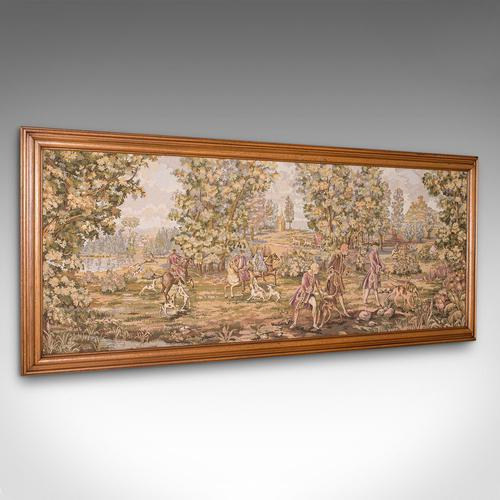 Large Antique Panoramic Tapestry, French, Needlepoint, Decorative Panel c.1910 (1 of 12)
