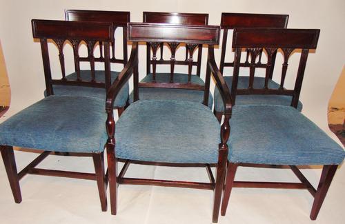 Set 6 Scottish Georgian Mahogany Dining Chairs (1 of 8)
