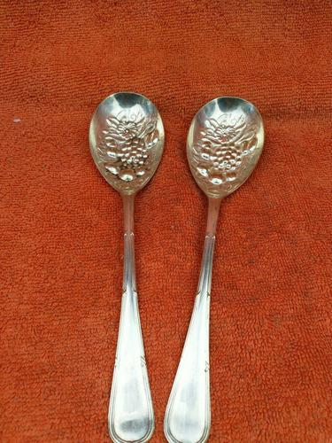 Silver Plate EPNS Berry Serving Spoons c.1940 (1 of 7)