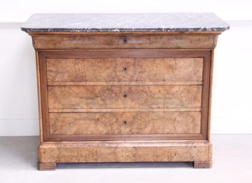 19th Century Burr Walnut Commode (1 of 9)