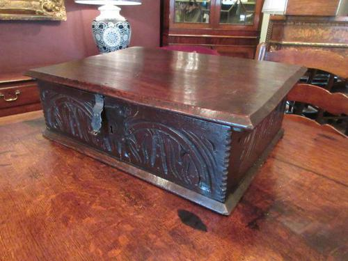 Early Period Antique Oak Deed Box c.1700 (1 of 7)