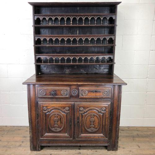 Gothic Antique Carved Oak Dresser (1 of 10)