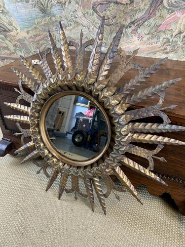 Spanish Gilt Brass Wall Mirror (1 of 6)